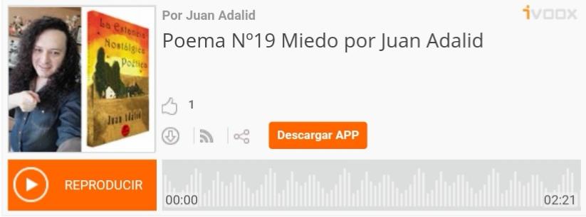 Juan Adalid, Poesía, Ivoox